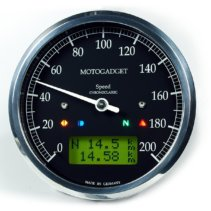 Motogadget Chronoclassic Green LCD Polished Bezel
