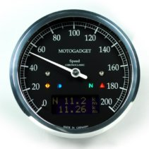 Motogadget Chronoclassic Dark Edition Speedometer