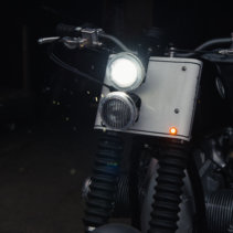 Mini Bolt LED Indicators installed on AMA BMW R75GS