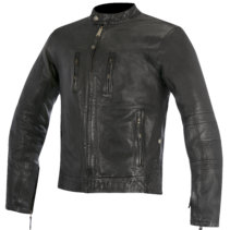 brass leather jacket oscar alpinestars analog motorcycles